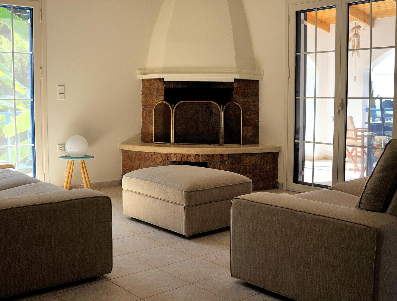 Wohnzimmer villa Hetty Gialova